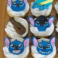 Stitch Fondant Cupcake Toppers