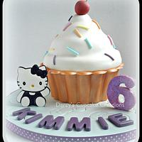 Hello Kitty Giant Cupcake