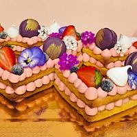 Romantic cream tart
