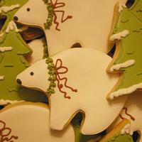 Polar Bear & Snowy Tree Cookies!