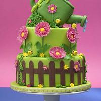 garden cake by Alessandra