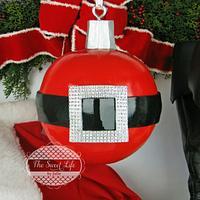 Santa Belt Hanging Ornament Cake