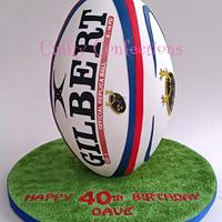 On end Rugby ball cake
