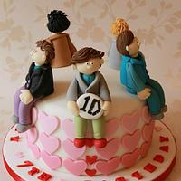 One Direction '1D' cake