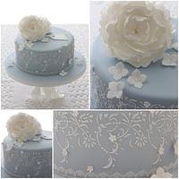 Vintage Wedgewood Birthday Cake by TiersandTiaras