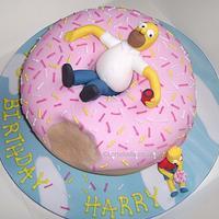 Homer Simpson and the Big Doughnut