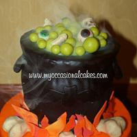 Cauldron 16th bday cake by Occasional Cakes