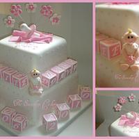 Evie's christening cake