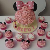 Minnie Mouse and Hello Kitty