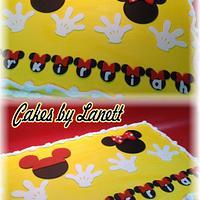 Mickey & Minnie Birthday Sheet Cake by lanett