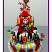 Madagascar circus cake