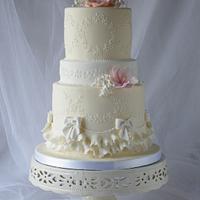Vintage Ivory Cake