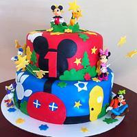 Mickey Mouse Playhouse Cake by RoscoeBakery
