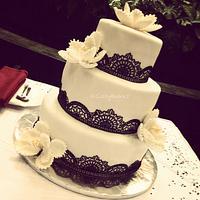Classic Fifties Wedding Cake