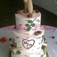 Birch Buttercream Cake