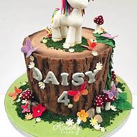 Woodlands Unicorn Birthday Cake