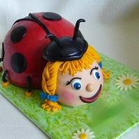 ladybug cake by mivi