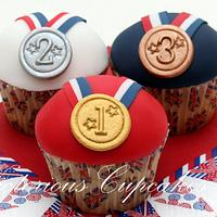 Victorious Medal Cupcakes