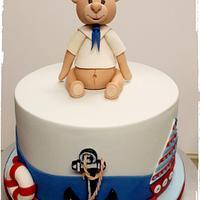 Nautical Teddy bear cake