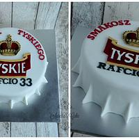 Tyskie bottle cap cake