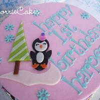 1st birthday Penguins by Corrie