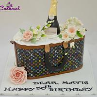 LV inspired Handbag Cake