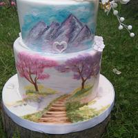 Hand painted landscape
