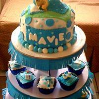 BAPTISMAL CAKE FOR MAVIE