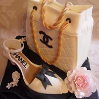 Handbag & Shoe Cake