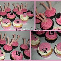 hen night burlesque cupcakes