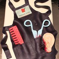hairdresser apron cake by wigur