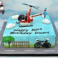 Helicopter themed cake