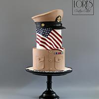 Navy Khaki Ball Cake