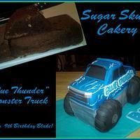 Blue Thunder Monster Truck Cake