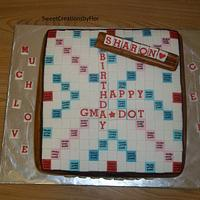 Scrabble cake by SweetCreationsbyFlor
