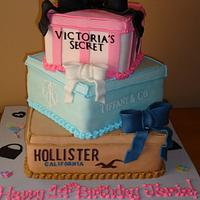 Gift Box Three Tiered Birthday Cake!!!!!
