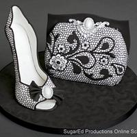 Lace Sugar Shoe and Purse