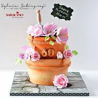 Flower pots  cake