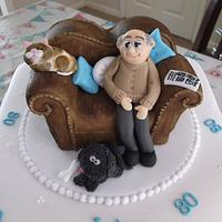 Sofa Birthday Cake