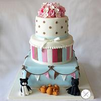 cat lovers wedding cake