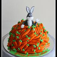 Carrots and rabbit cake