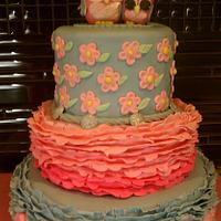 owl cake for baby showrr