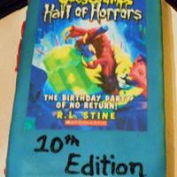 Goosebumps Book Cake