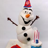 Olaf cake for Icing Smiles Canada