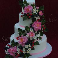 Summer time wedding cake