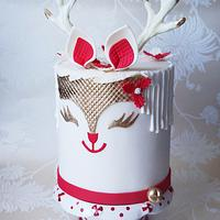 "Christmas Cake ""Double Barrel Reinder Cake"""