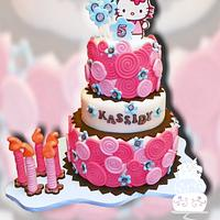 Fondant Swirls Hello Kitty