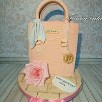 Bag cake with flower