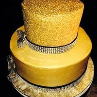 Glittery Gold Sweet 16