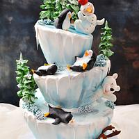 Funny Winter Cake